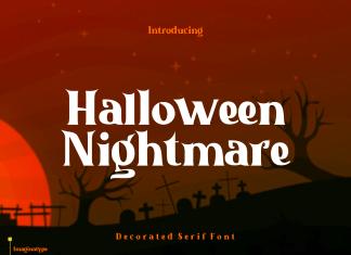 Halloween Nightmare Display Font