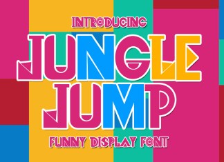Jungle Jump Display Font