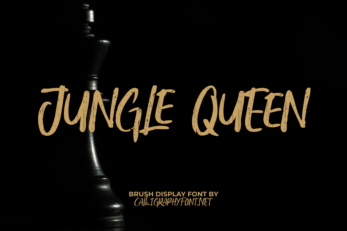 Jungle Queen Brush Font