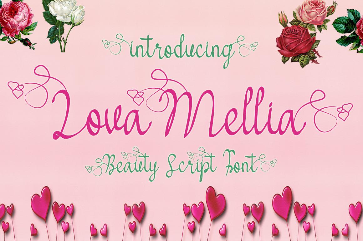 Lova Mellia Script Font
