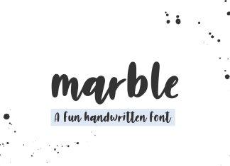 Marble Handwritten Font