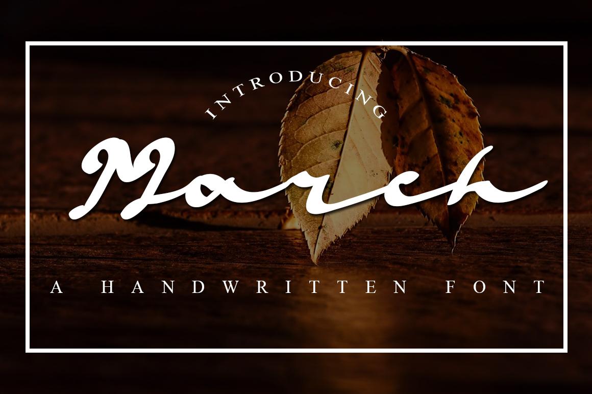 March Script Font