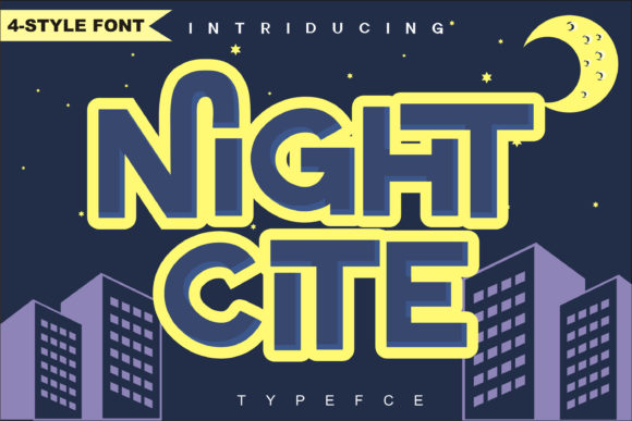 Night Cite Display Font