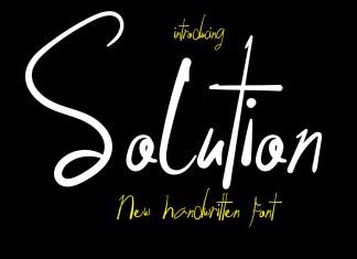 Solution Script Font