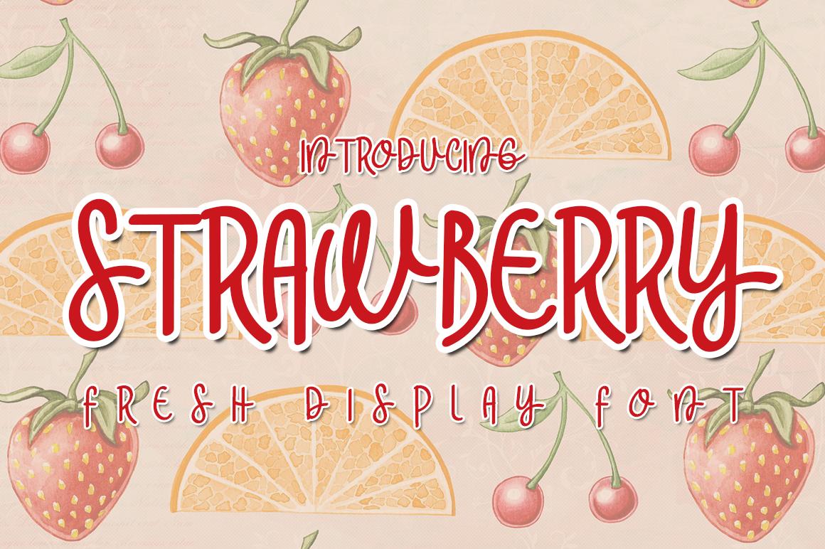 Strawberry Display Font