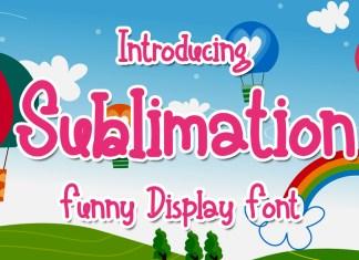 Sublimation Display Font