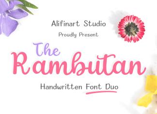The Rambutan Script Font
