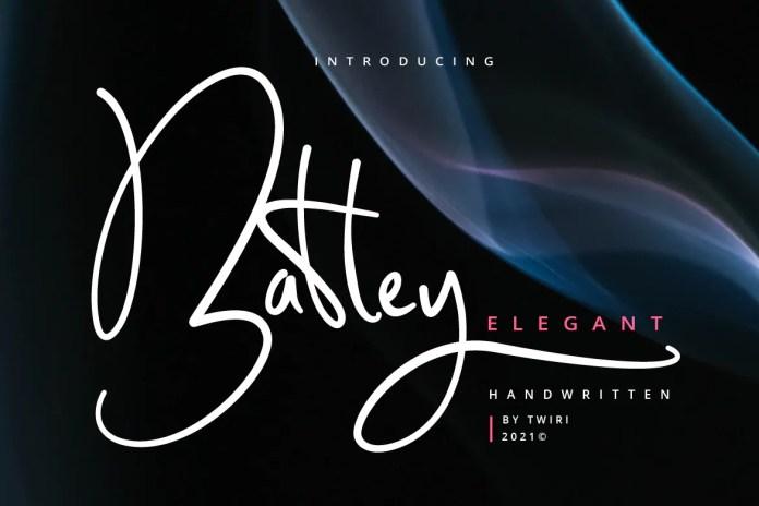Batley Elegant Handwritten Font