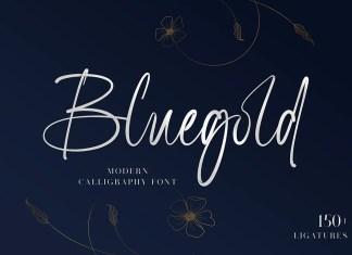 Bluegold Script Font