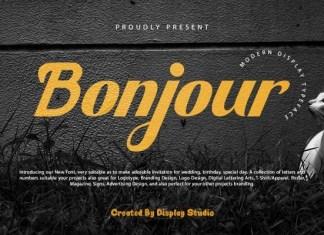 Bonjour Display Font