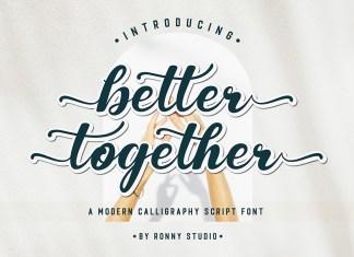 Better Together Script Font