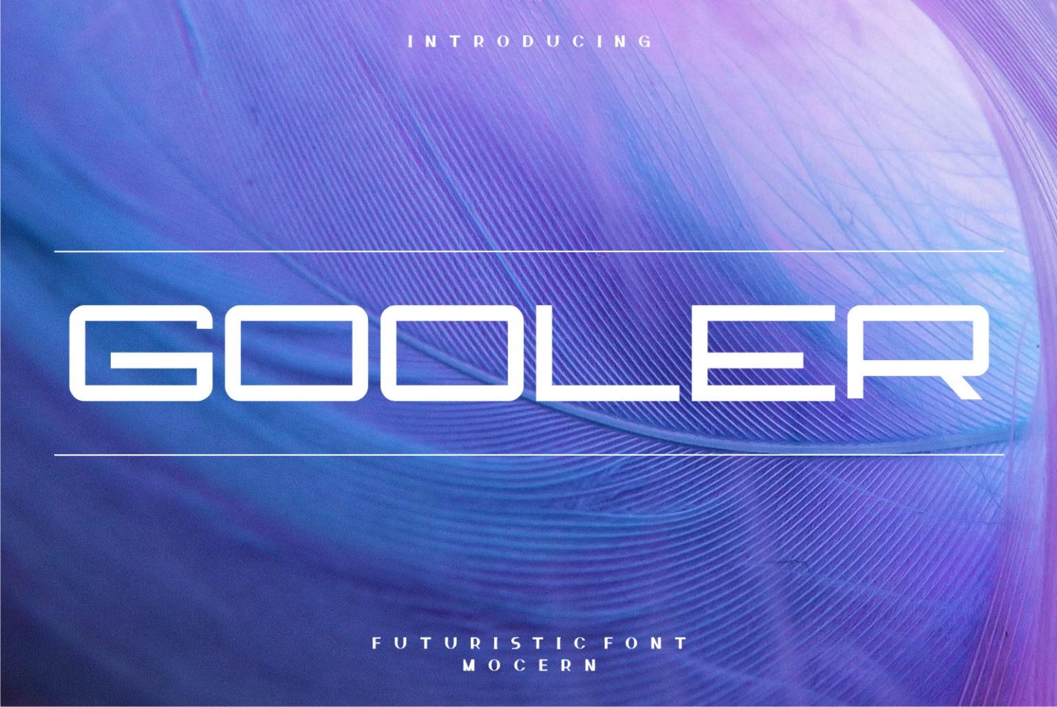 Gooler Display Font