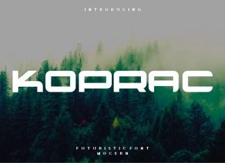 Koprac Display Font