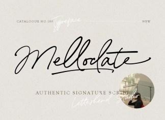 Mellodate Handwritten Font