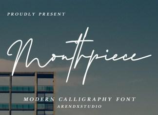 Mouthpiece Script Font