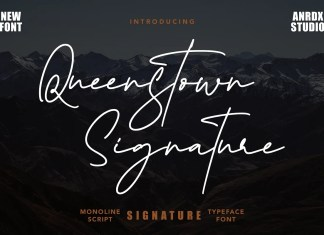 Queenstown Signature Script Font