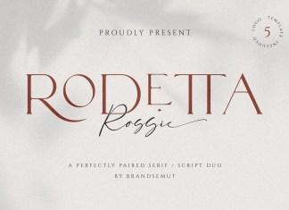 Rodetta Rossie Serif Font