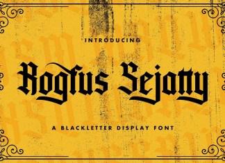 Rogfus Sejatty Blackletter Font
