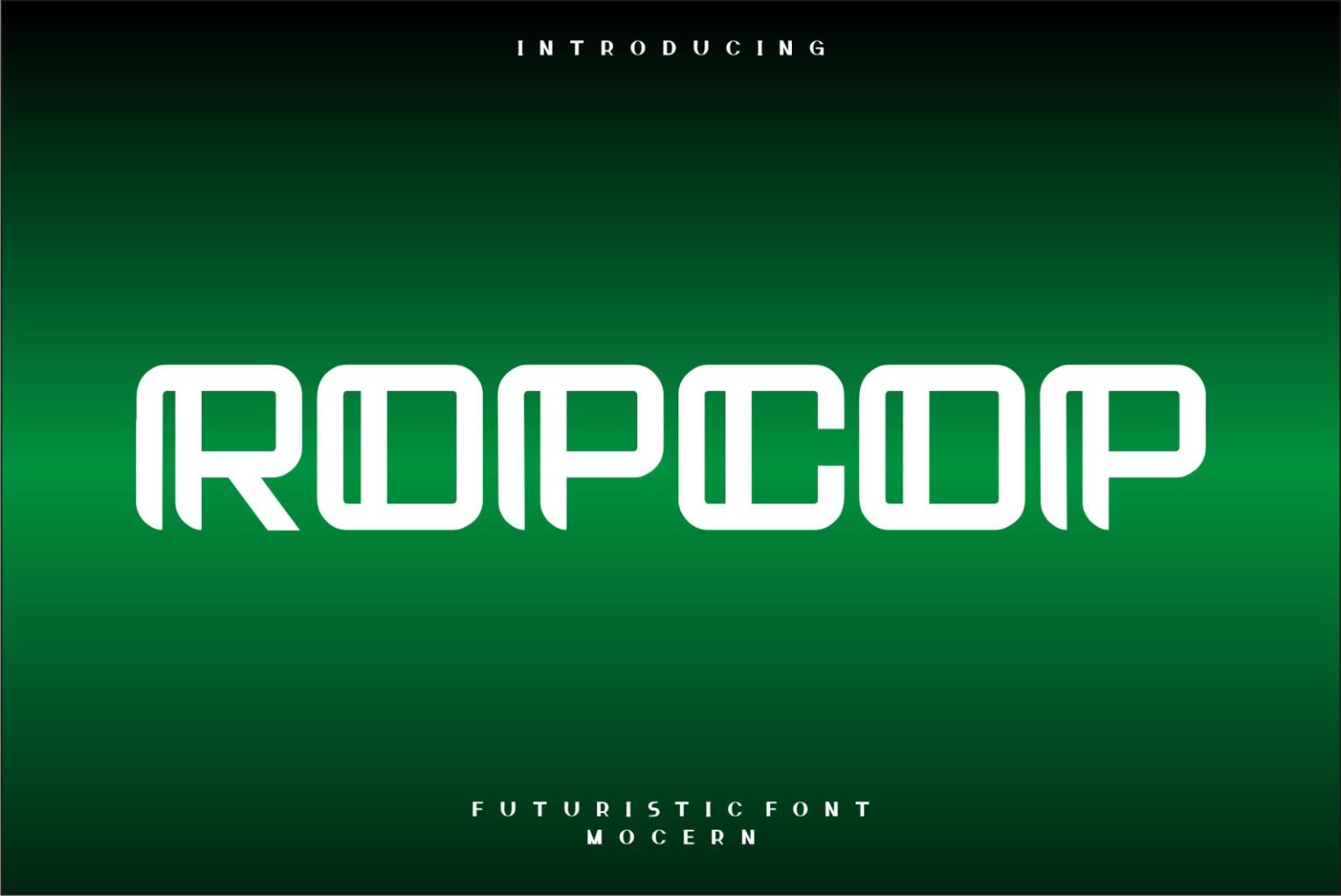 Ropcop Display Font