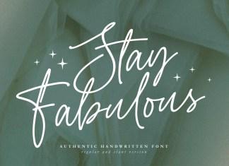 Stay Fabulous Handwritten Font