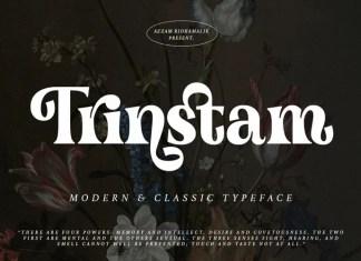 Trinstam Serif Font