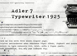 Adler 7 Typewriter 1925 Font