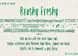 Brushy Freshy Brush Font