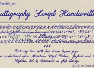 Calligraphy Script Handwritten Font