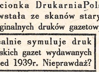 Drukarnia Polska Display Font