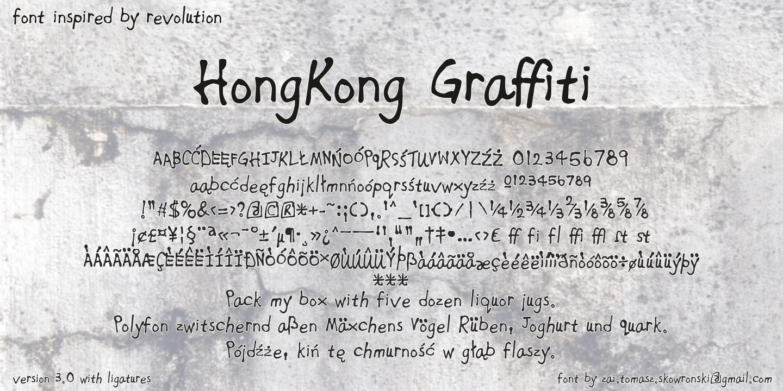 Hong Kong Graffiti Font