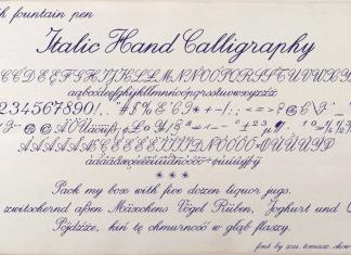Italic Hand Calligraphy Font