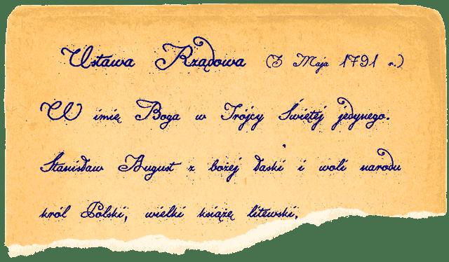 Konstytucja Polska 1791 Script Font