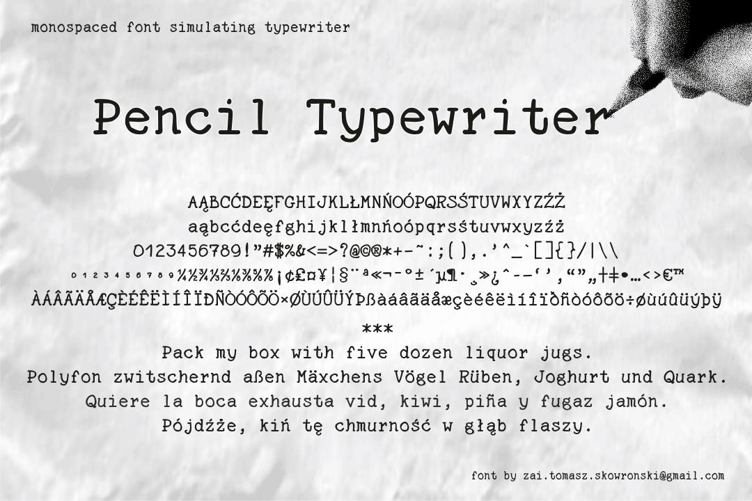 Pencil Typewriter Font
