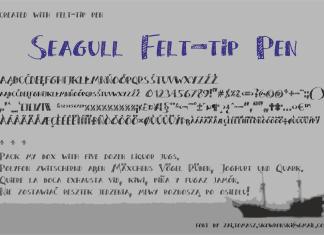 Seagull Felt-tip Pen Font