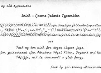 Smith Corona Galaxie Typewriter Font