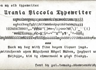 Urania Piccola Typewriter Font