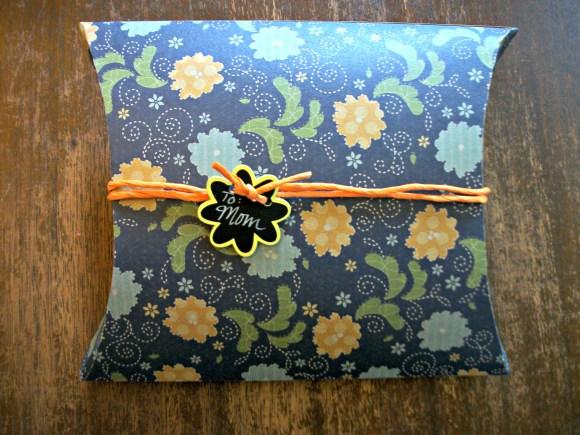 wrapped pillow box