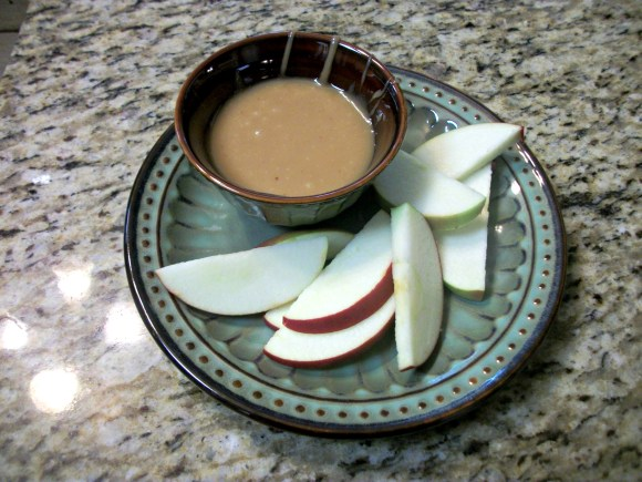 dip with apples