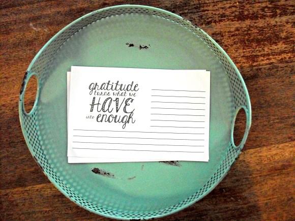 gratitude sheets