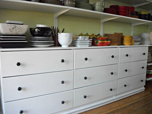 completed drawer units
