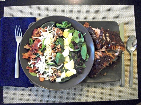 Meal Inspiration 3 - BBQ ribs and salad