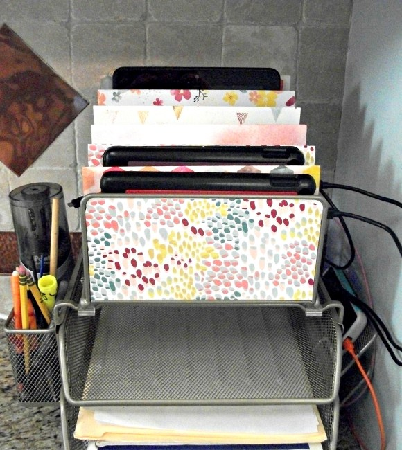 DIY Charging Station for your iPad, Kindle, tablets, phones, etc.. from a letter sorter. www.Before3pm.com