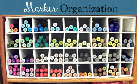 Organize your markers with Craft Foam and hot glue! Before3pm.com
