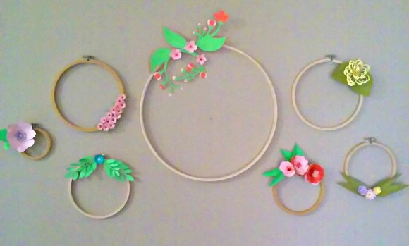 Embroidery Hoop Wall. Before3pm.com