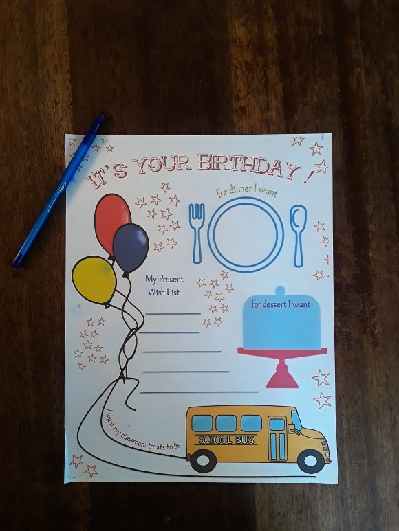 Kids are always excited for their birthday! Help them plan it with this fun free printable! Before3pm.com