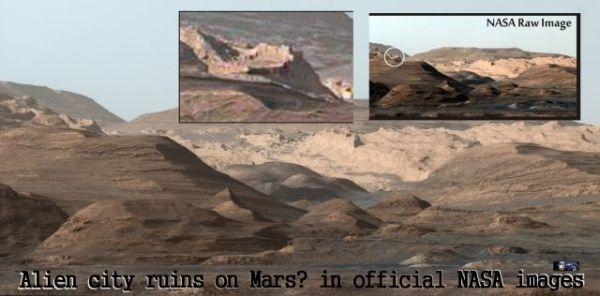 Antiche rovine di una città Aliena su Marte nelle immagini ...