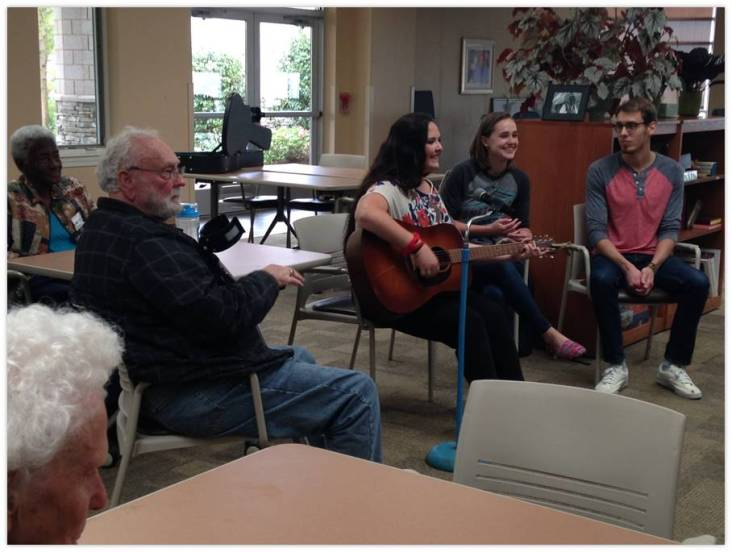 We were fortunate to have had musical volunteers join us.