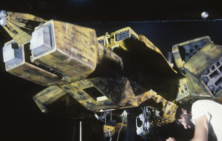 Andrew Kelly works on the yellow Nostromo