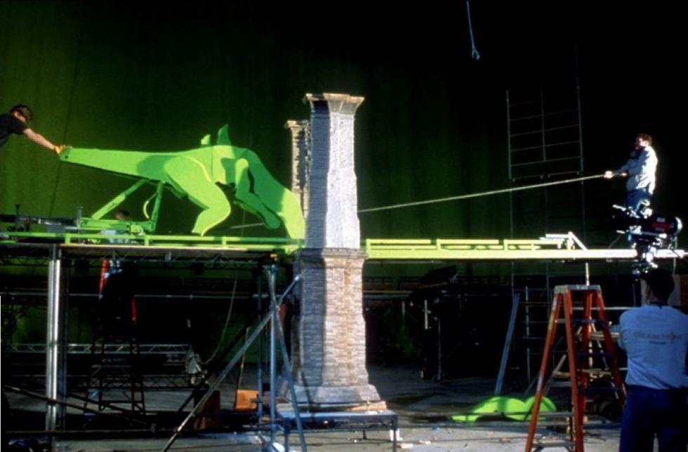 Mock-up for Godzilla bridge scene