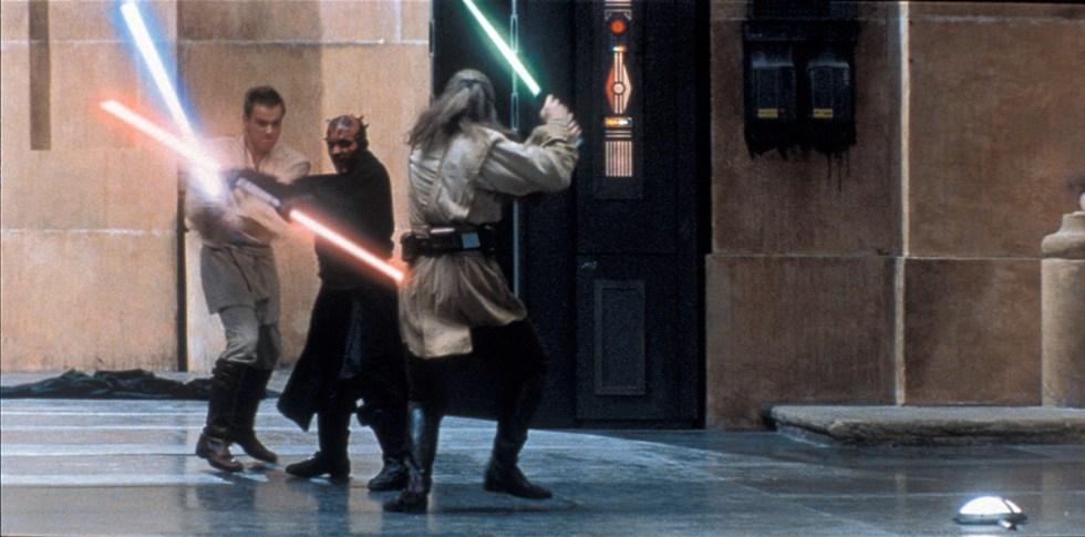 Obi-Wan and Qui-Gon take on Darth Maul